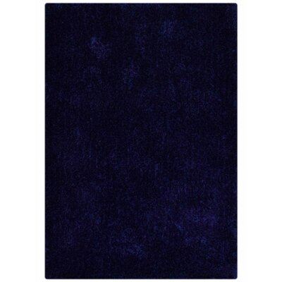 Sanford Solid Hand-Woven Blue Area Rug Rug Size: Rectangle�5 x 8