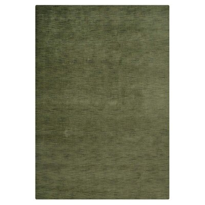 Delano Solid Hand-Woven Wool Green Area Rug Rug Size: Rectangle 10 x 13
