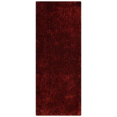 Sanford Solid Hand Tufted Violet Area Rug Rug Size: Runner 2 6 x 8