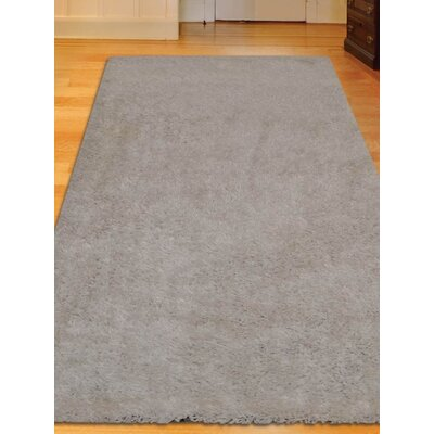 Sanford Solid Hand Tufted Gray Area Rug Rug Size: Runner 26 x 8