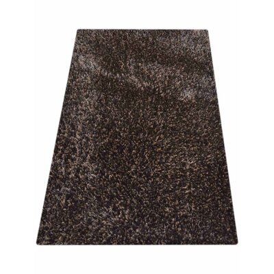 Sanford Solid Hand Tufted Black/Silver Area Rug