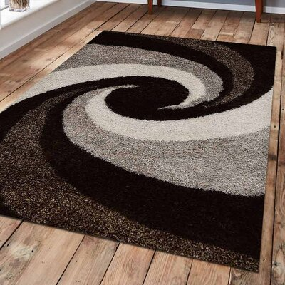 Sarabi Abstract Hand Tufted Black/Gray Area Rug Rug Size: 9 x 12