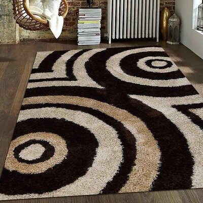 Aaliyah Contemporary Hand Tufted Beige/Brown Area Rug Rug Size: 8 x 10