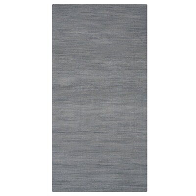 Delano Rectangle Solid Hand-Woven Wool Light Blue Area Rug Rug Size: Runner 26 x 8