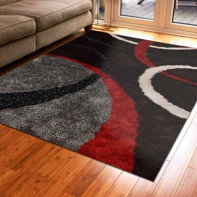 Marigold Abstract Hand Tufted Black/Gray Area Rug Rug Size: 6 x 9