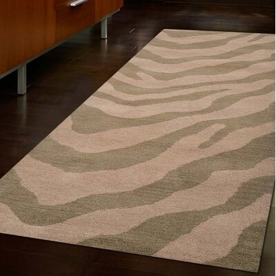 Danny Contemporary Hand Tufted Wool Beige/Gray Area Rug