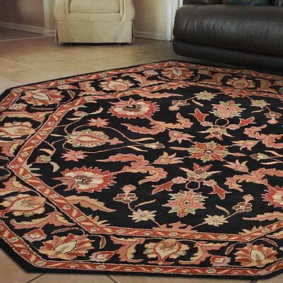 Oppenheim Vintage Hand Tufted Wool Red/Black Area Rug