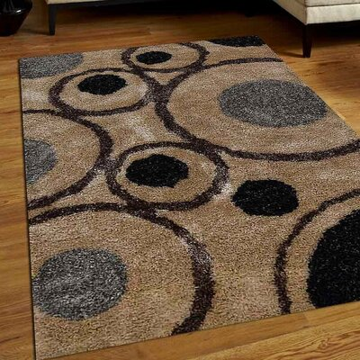 Wooters Abstract Hand Tufted Beige Area Rug