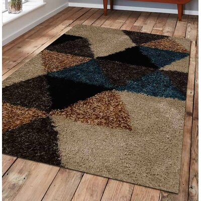 Beirut Abstract Hand Tufted Black/Brown Area Rug