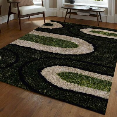Etienne Abstract Hand Tufted Green/Beige Area Rug