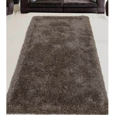 Sanford Solid Hand-Woven Brown Area Rug Rug Size: Rectangle 6 x 9