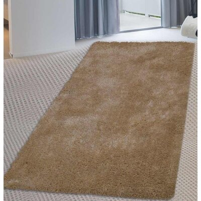 Sanford Solid Hand Tufted Ivory Area Rug Rug Size: Runner 2 6 x 6
