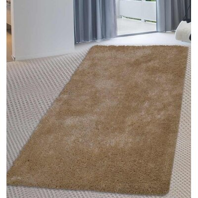 Sanford Solid Hand-Woven Ivory Area Rug Rug Size: Runner 26 x 10