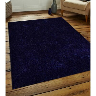 Sanford Solid Hand-Woven Blue Area Rug Rug Size: Rectangle�8 x 10
