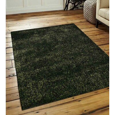 Sanford Solid Hand-Woven Green Area Rug Rug Size: Rectangle�8 x 10