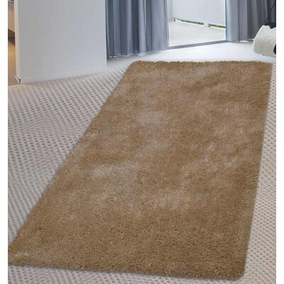 Sanford Solid Hand-Woven Ivory Area Rug Rug Size: Runner 26 x 8