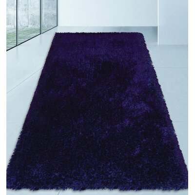 Sanford Solid Hand Tufted Blue Area Rug Rug Size: Runner 26 x 6