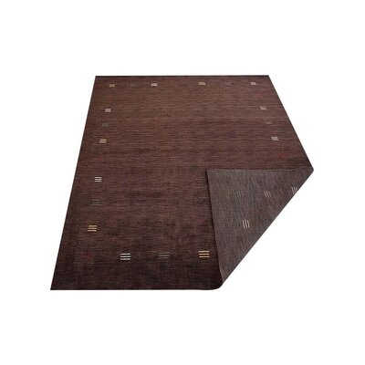 Ceniceros Solid Hand-Knotted Wool Brown Area Rug Rug Size: 10 x 13
