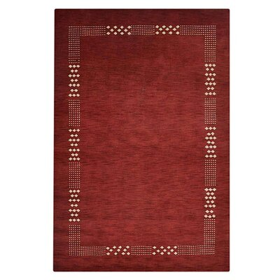Ceniceros Solid Hand-Knotted Wool Red Area Rug Rug Size: Rectangle 10 x 13