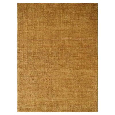 Ceniceros Solid Hand-Woven Wool Gold Area Rug Rug Size: Rectangle 6 x 9