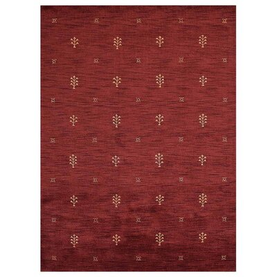 Ceniceros Contemporary Hand-Knotted Wool Red Area Rug Rug Size: Rectangle 8 x 10