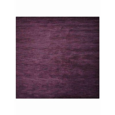 Ceniceros Solid Hand-Knotted Wool Purple Area Rug Rug Size: Square 10