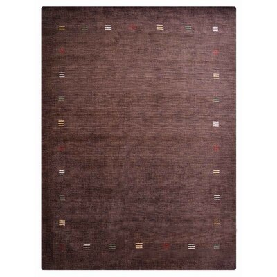 Cralcum Hand-Knotted Wool Brown Area Rug Rug Size: 9 x 12