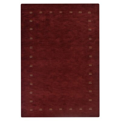 Rugsotic Hand Knotted Loom Wool Red Area Rug Rug Size: 8 x 10