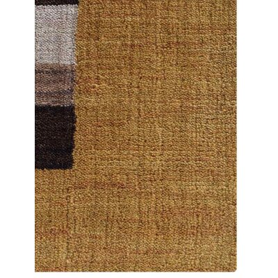 Ceniceros Striped Hand-Woven Wool Gold/Brown Area Rug Rug Size: Runner�28 x 10