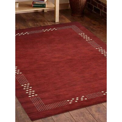 Ceniceros Solid Hand-Woven Wool Red Area Rug Rug Size: Rectangle 8' x 10'