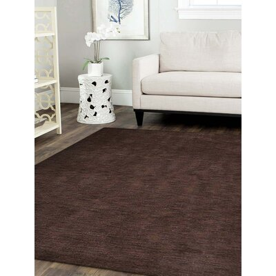 Ceniceros Solid Hand-Woven Rectangle Wool Brown Area Rug Rug Size: Square 8