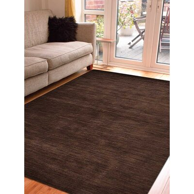Ceniceros Solid Hand-Woven Rectangle Wool Brown Area Rug Rug Size: Rectangle 8 x 11