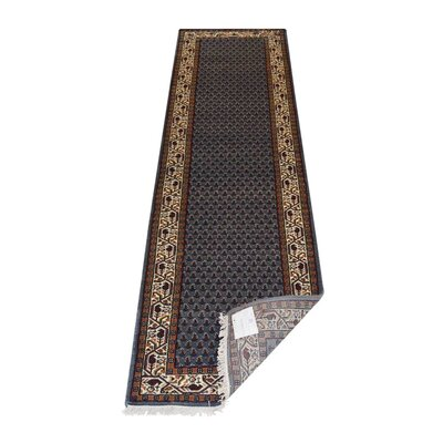 Shephard Hand-Knotted Wool Blue Area Rug Rug Size: 8' x 11'