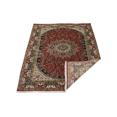 Shephard Hand Knotted Isfahan Flat Surface Wool Red Area Rug Rug Size: 8 x 11