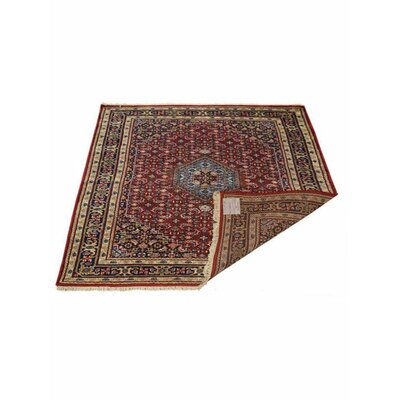 Shephard Hand-Knotted Wool Red Area Rug Rug Size: 6 x 8
