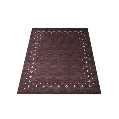 Ry Hand Knotted Loom Rectangle Wool Brown Area Rug Rug Size: 6 x 9