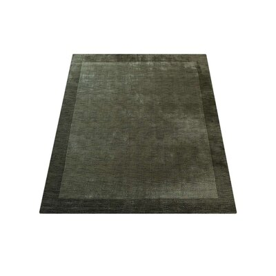 Ry Hand Knotted Loom Flat Surface Wool Green Area Rug