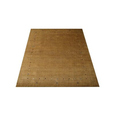 Ry Hand Knotted Loom Wool Gold Area Rug