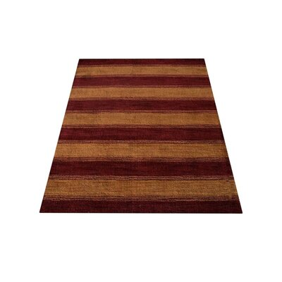 Ry Hand Knotted Wool Red/Gold Area Rug
