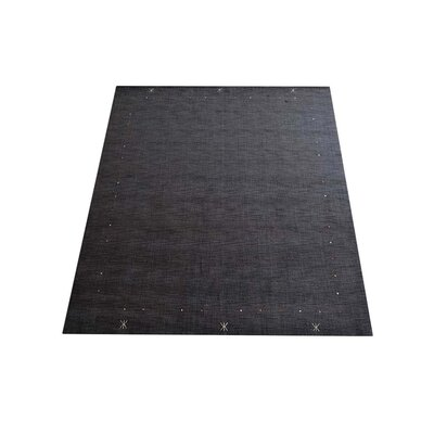 Ry Hand Knotted Loom Wool Charcoal Area Rug