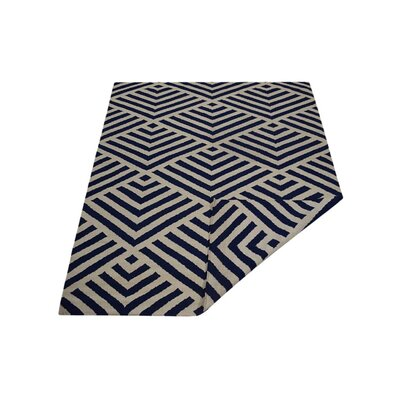 Browner Hand Knotted Dvina Wool Beige/Blue Indoor Area Rug