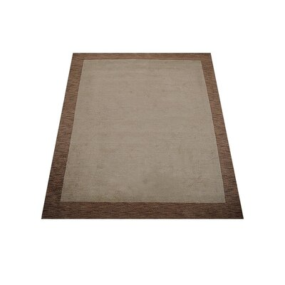 Ry Hand Knotted Loom Wool BrownBeige Area Rug