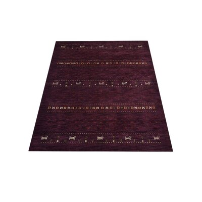 Maggiemae Hand-Knotted Wool Purple Area Rug