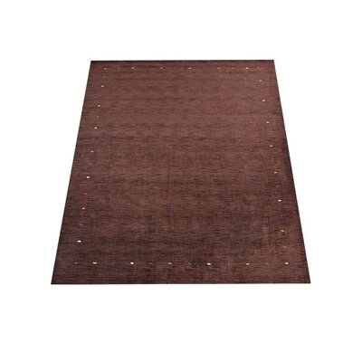 Ry Hand Knotted Loom Flat Surface Wool Brown Area Rug Rug Size: 6 x 9