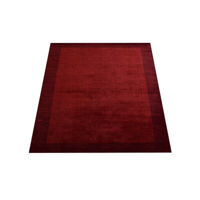 Ry Hand Knotted Loom Wool Red Area Rug