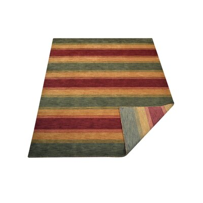 Ry Hand Knotted Wool Red/Yellow/Green Area Rug