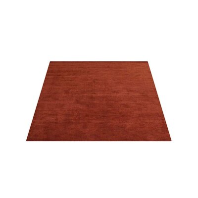 Ry Hand Knotted Loom Wool Light Red Area Rug