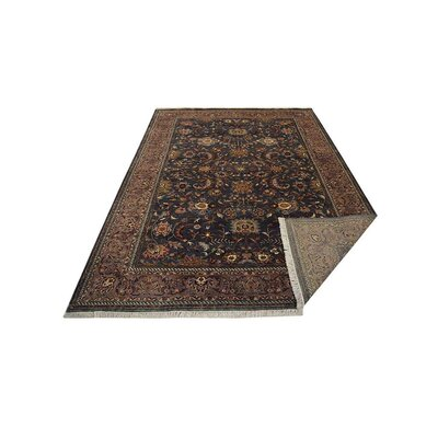 Shephard Hand Knotted Persian Wool Charcoal Area Rug