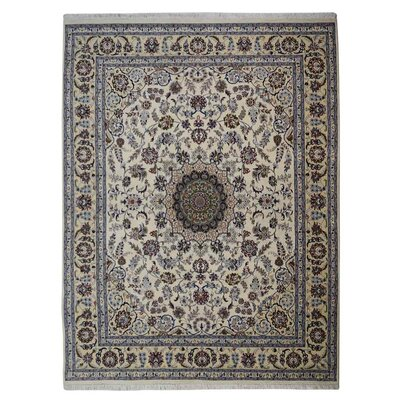 Shephard Hand Knotted Persian Wool WhiteGold Area Rug