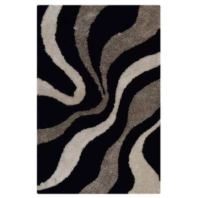 Ry Hand Tufted Black/Gray Indoor/Outdoor Area Rug